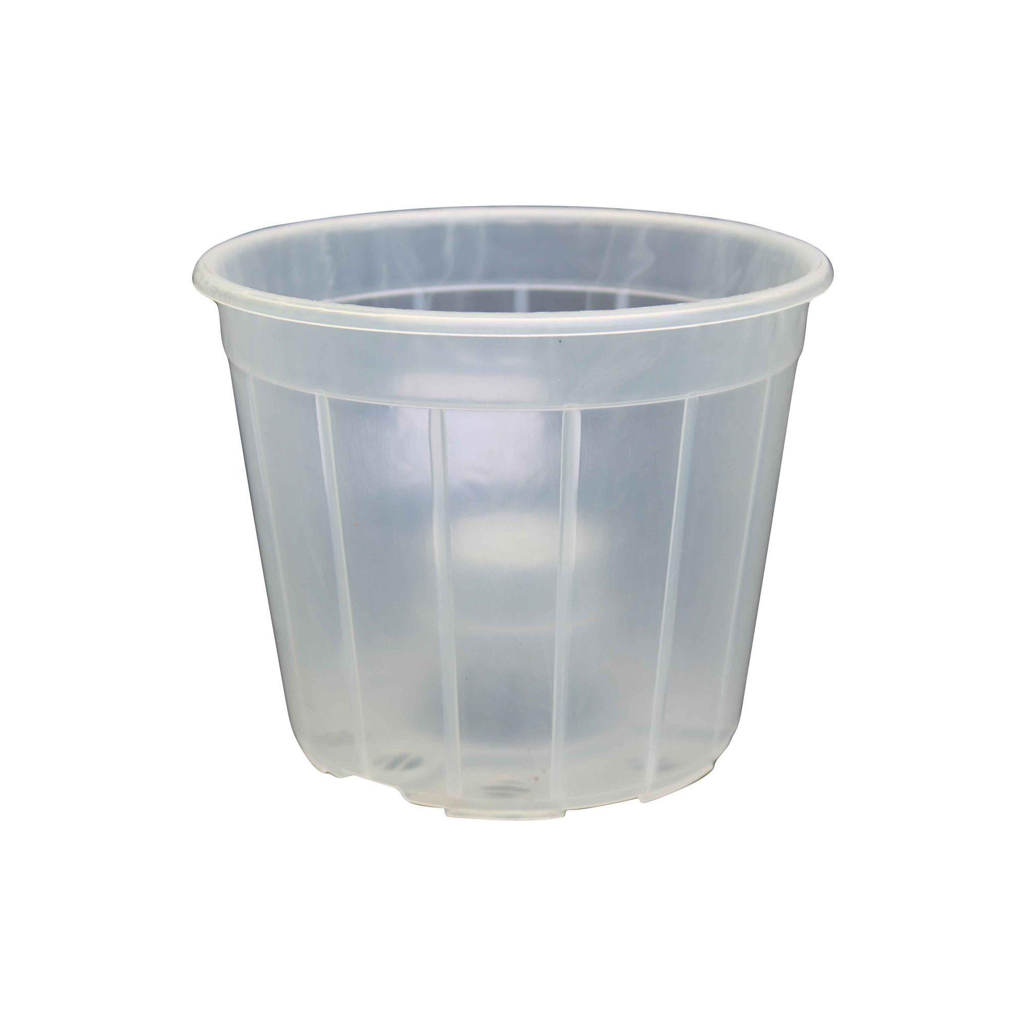 Vaso Plástico Transparente para Orquídeas 12cm x 15cm