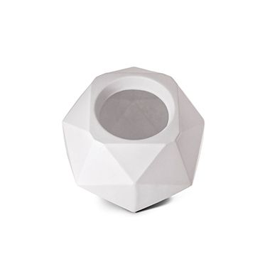 Vaso Quartzo 11 Branco 11cm x 15cm