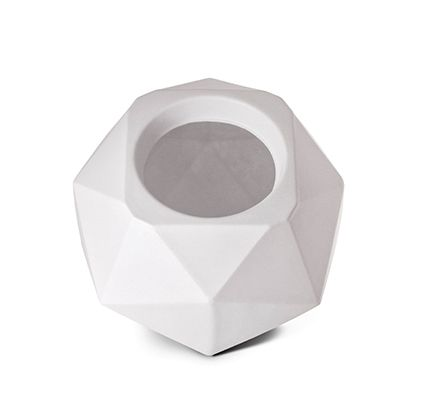 Vaso Quartzo 16 Branco 16cm x 16cm