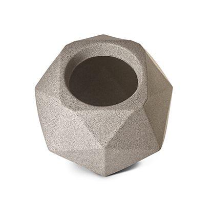 Vaso Quartzo 16 Granito 16cm x 16cm