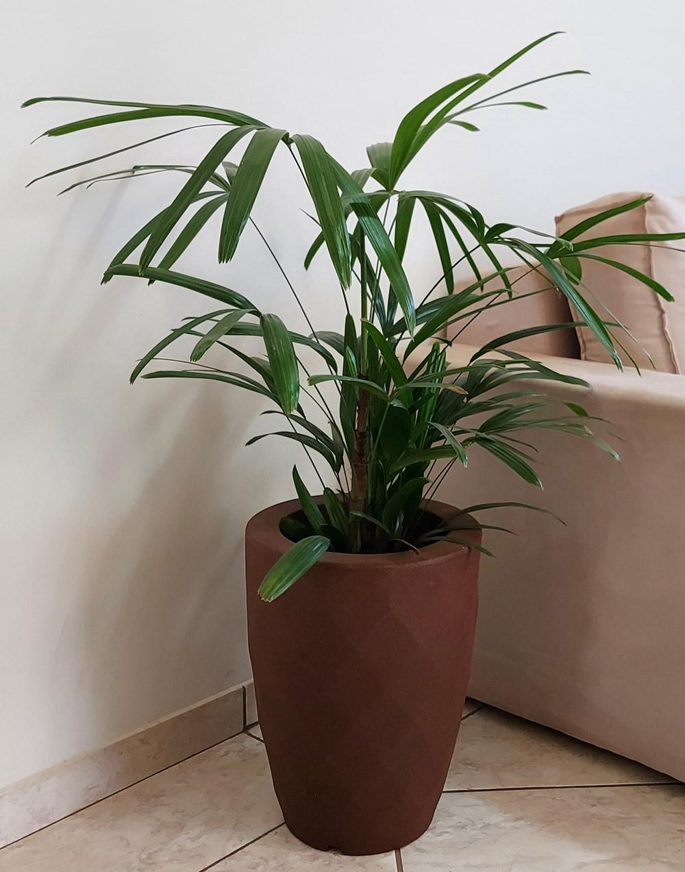Vaso Safira Cônico Ferrugem 40cm altura x 29,5cm largura