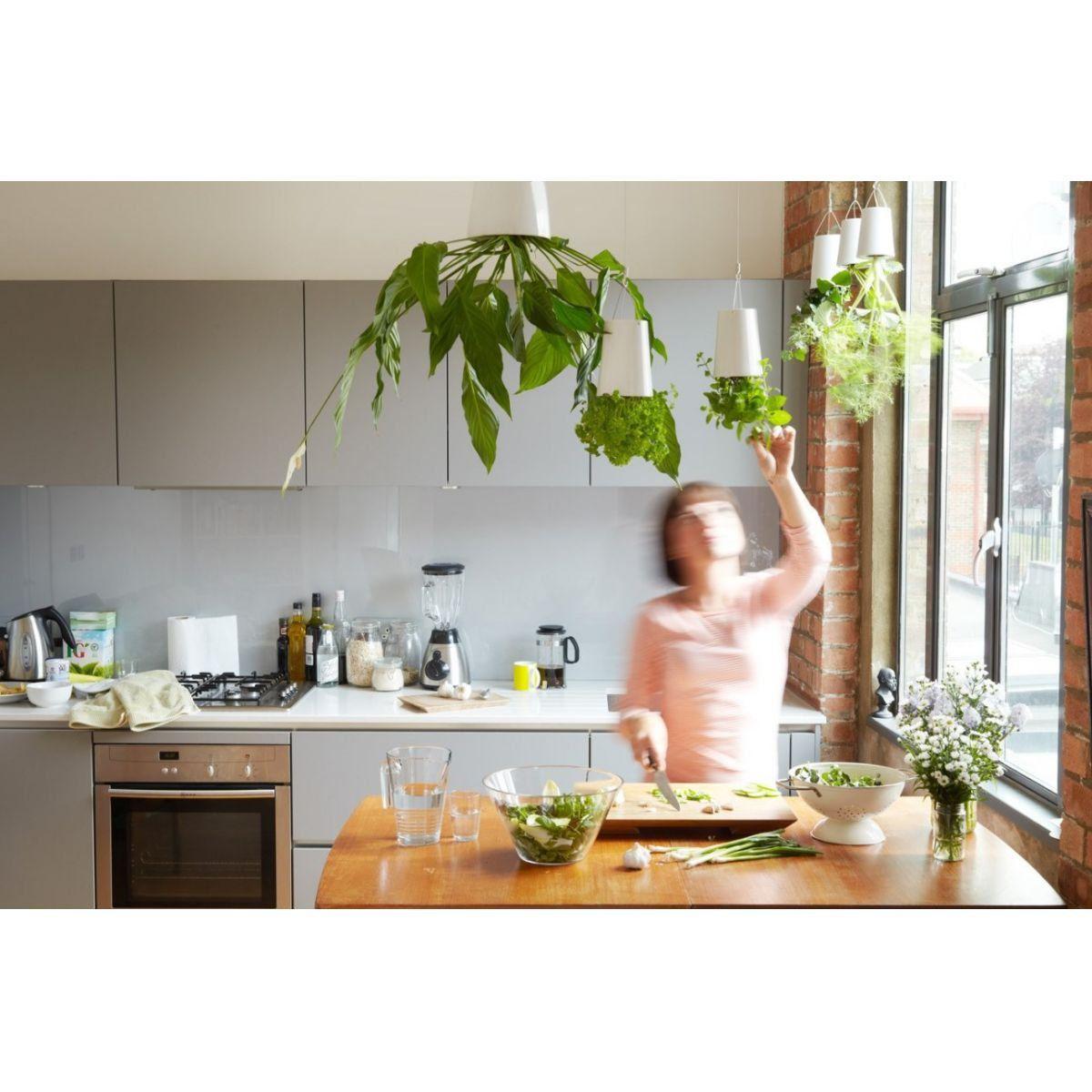 Vaso Sky Planter Seminate Autoirrigável Branco 13cm