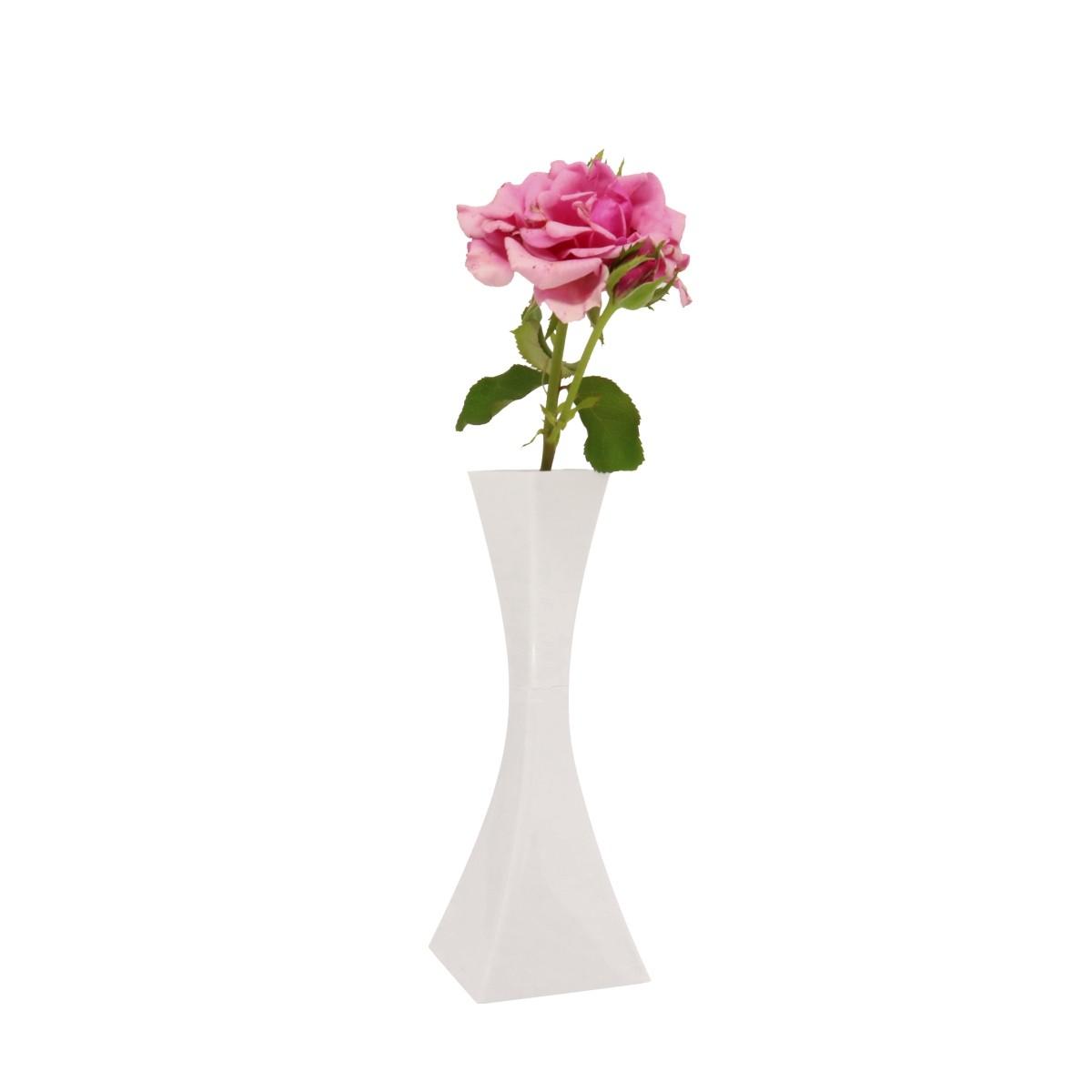 Vaso Solitário Branco 19,5cm x 4cm