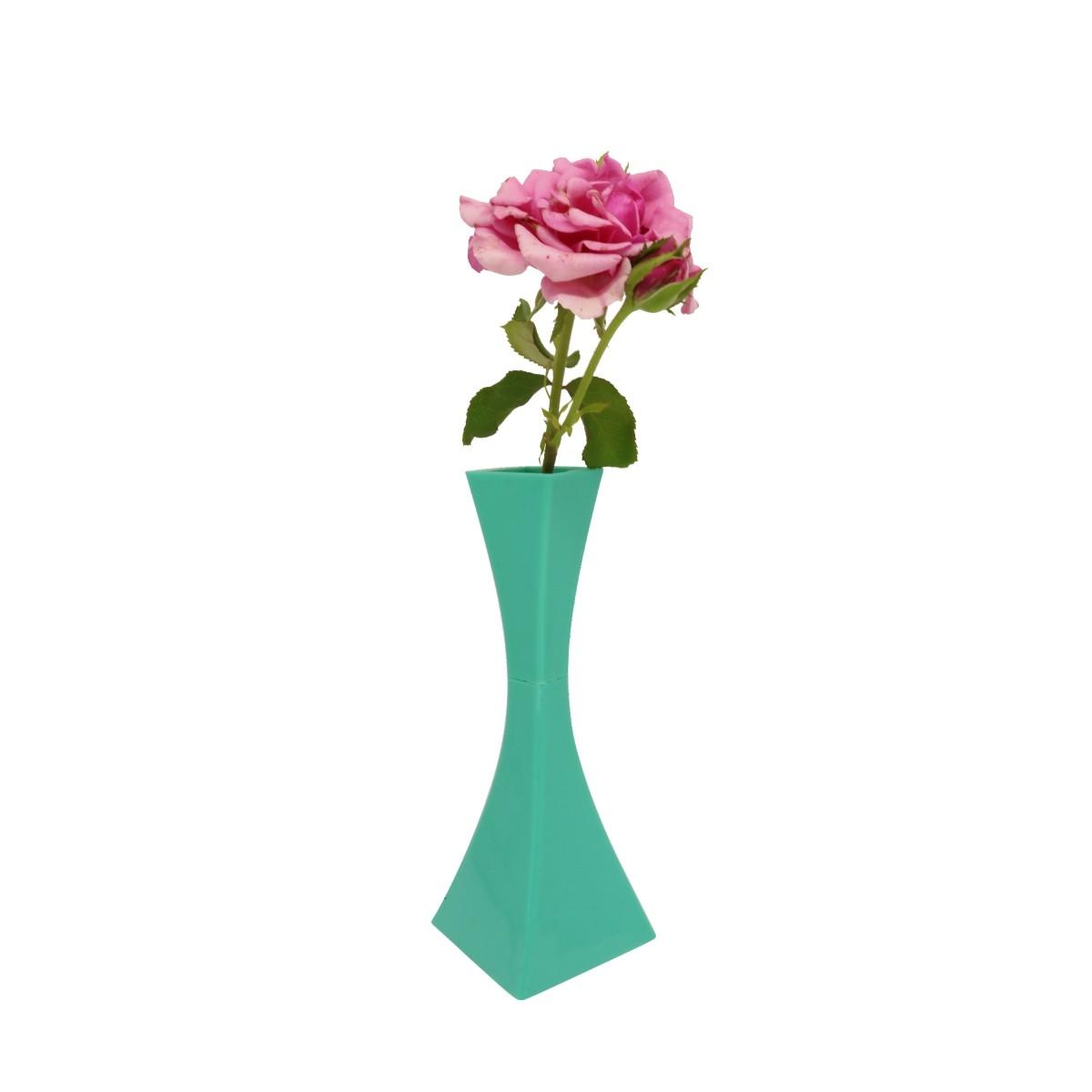 Vaso Solitário Verde 19,5cm x 4cm
