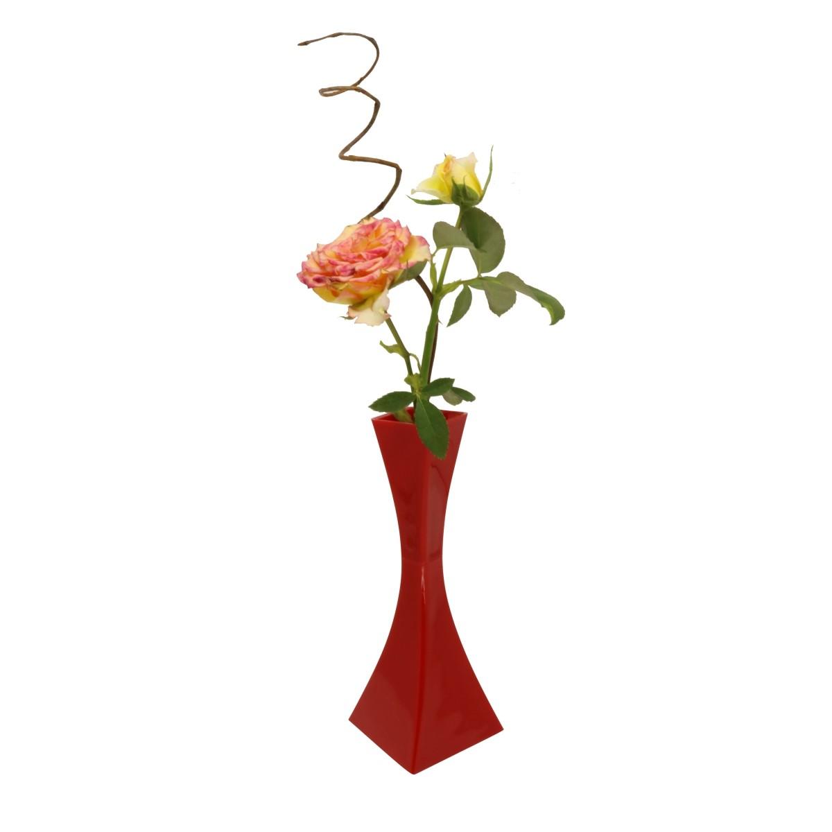 Vaso Solitário Vermelho 19,5cm x 4cm