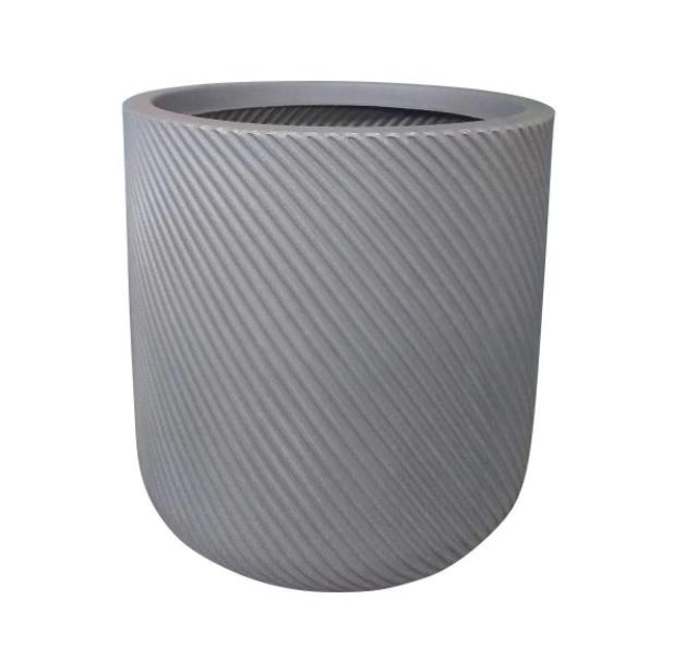 Vaso Vite Cilíndrico Vogue cor Chumbo 34cm x 33,5cm - VCP2-CH