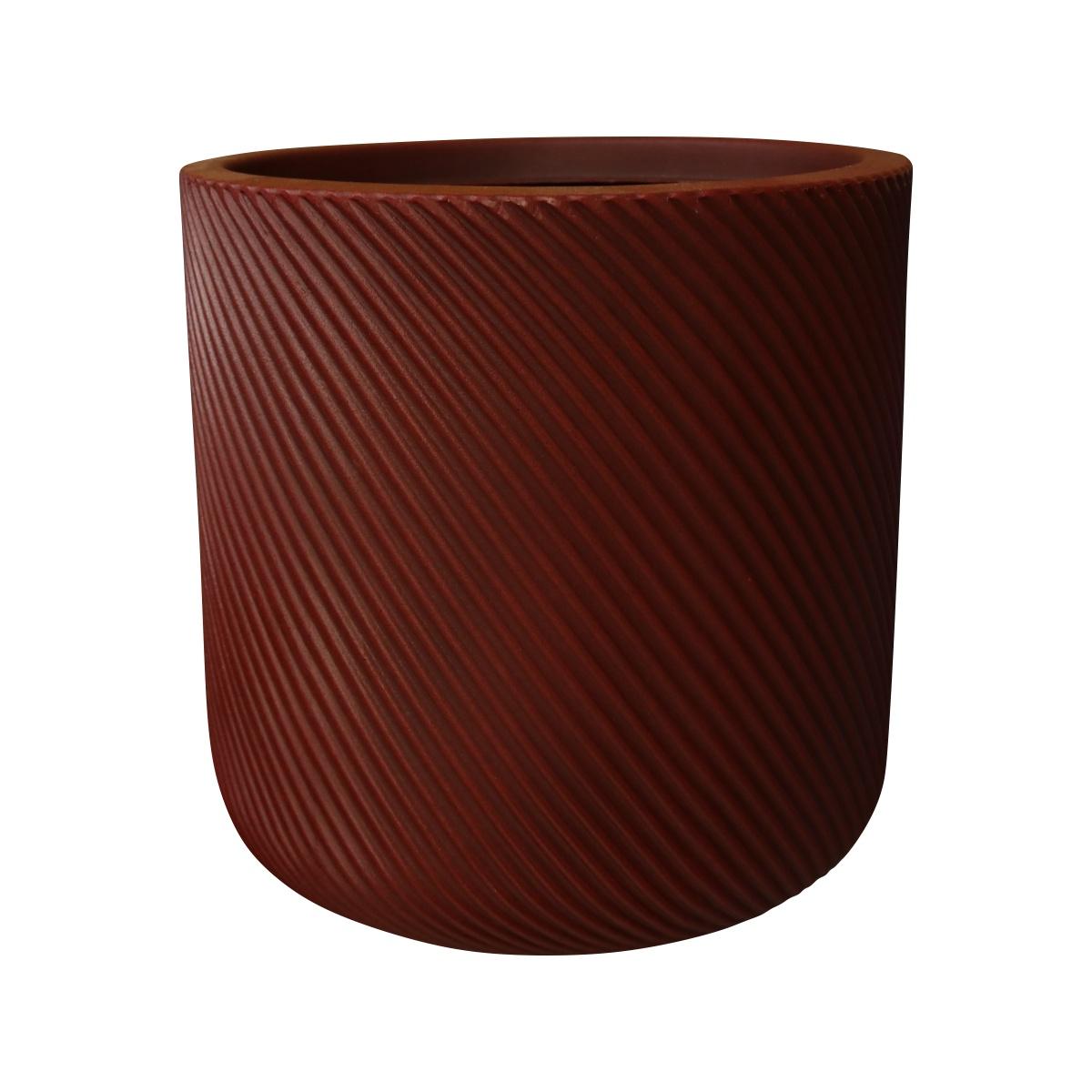 Vaso Vite Cilíndrico Vogue cor Vermelho Colonial 29cm x 29cm - VCP1-VC