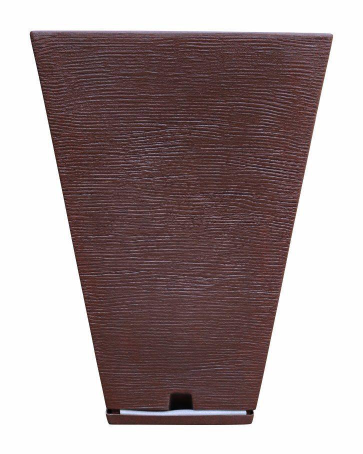 Vaso Zurique Grafiato Marrom 32cm x 55cm Stone Effect