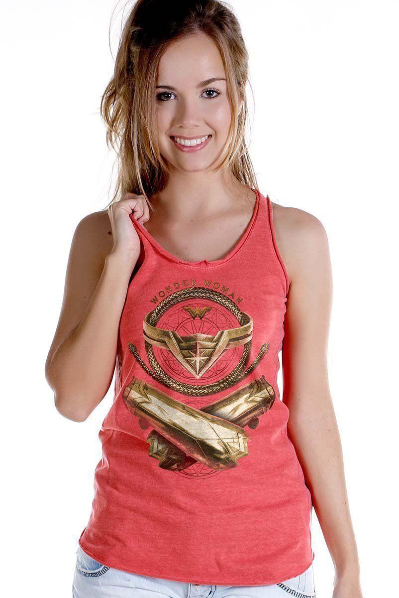 Regata Premium Feminina Wonder Woman Icons