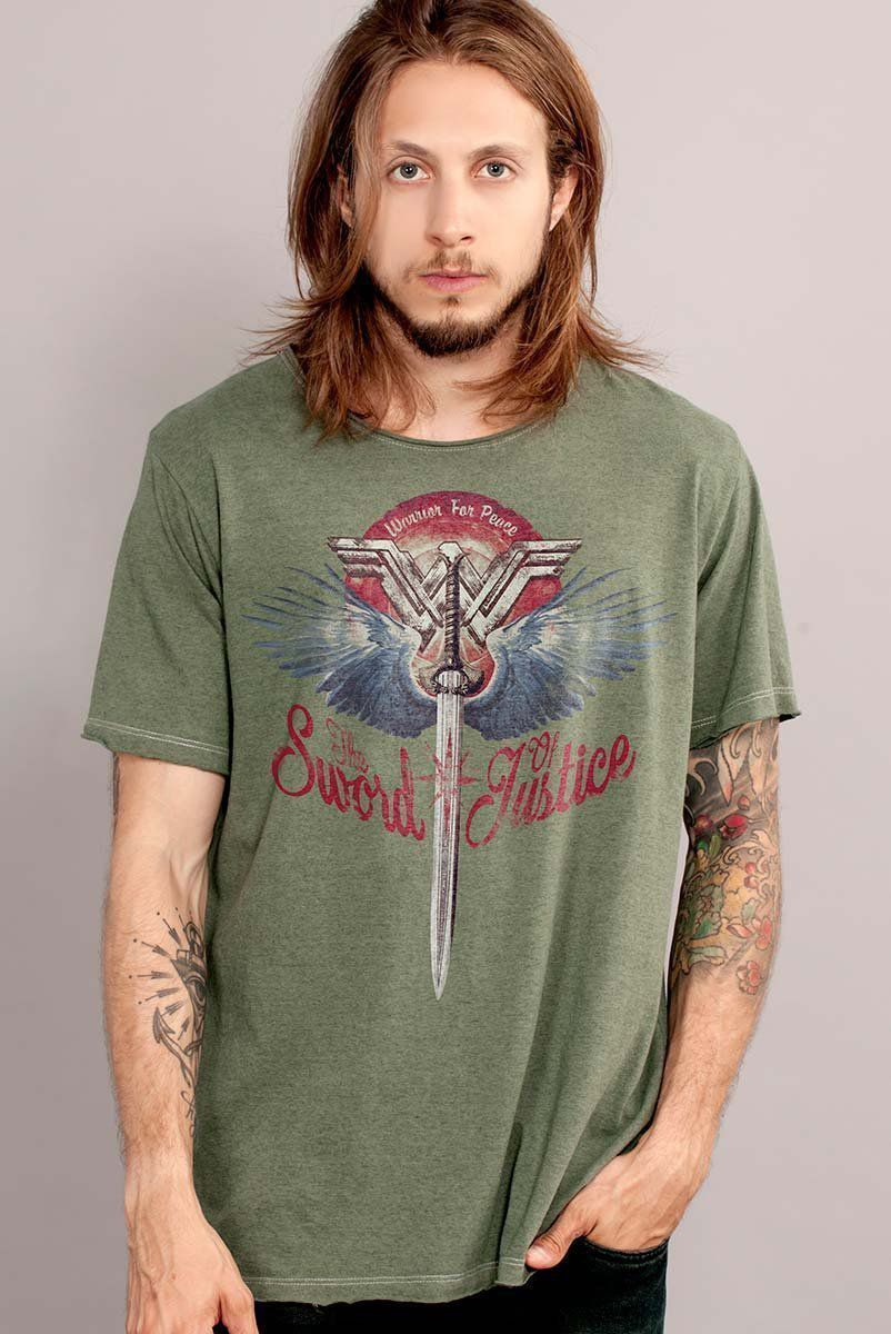 Camiseta Masculina Wonder Woman The Sword of Justice