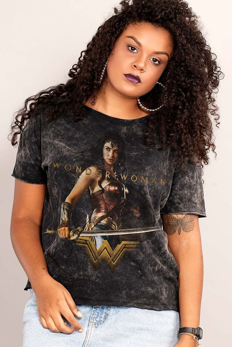 Blusa Feminina Wonder Woman Warrior For Peace
