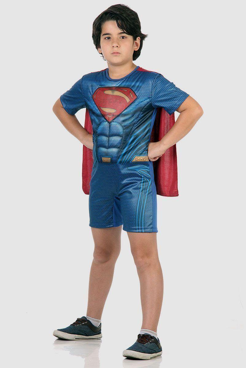 Fantasia Infantil Batman Vs Superman Pop Superman com Musculatura