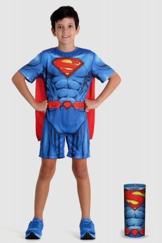 Fantasia Infantil Superman Pop na Lata