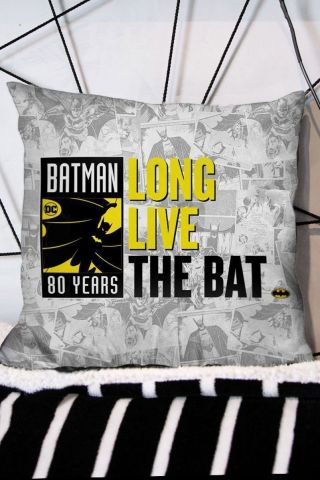 Almofada Batman 80 Anos Long Live The Bat