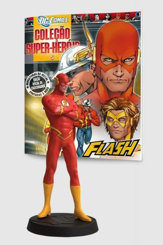 Boneco Miniatura The Flash + Revista