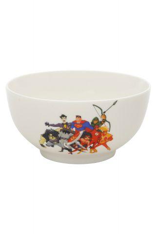 Bowl Porcelana Liga da Justiça Cartoon