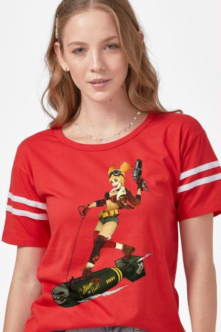 Camiseta Athletic Feminina Harley Quinn Gotham Or Bust