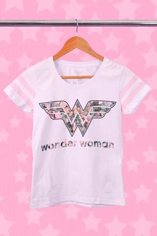 Camiseta Athletic Feminina Mulher Maravilha Tropical