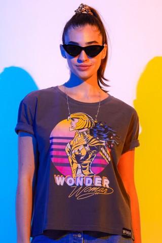 Camiseta Box Feminina Mulher Maravilha 1984 Colorful