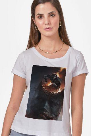 Camiseta Feminina Batman Que Ri Aberração