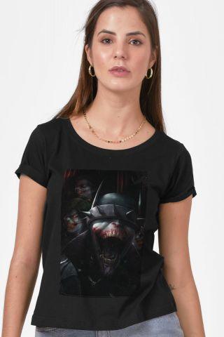Camiseta Feminina Batman Que Ri Criaturas