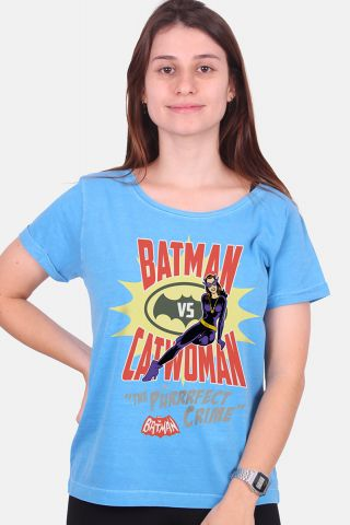 Camiseta Feminina Batman VS Catwoman