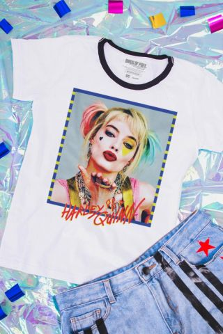 Camiseta Feminina Birds of Prey Harley Quinn - Aves de Rapina