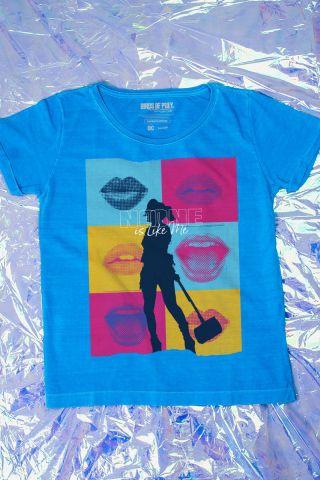 Camiseta Feminina Birds of Prey Harley Quinn Silhueta - Aves de Rapina