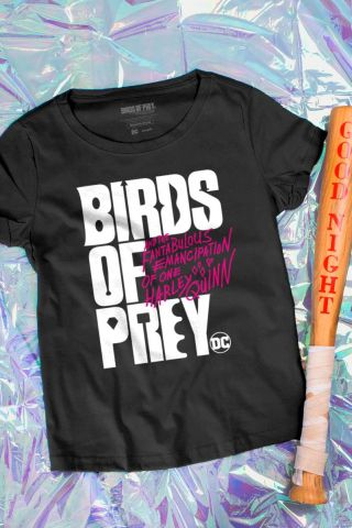 Camiseta Feminina Birds of Prey Logo