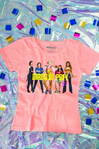 Camiseta Feminina Birds of Prey Personagens