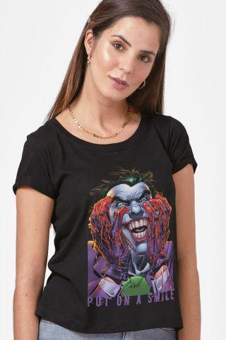 Camiseta Feminina Coringa Coloque um Sorriso