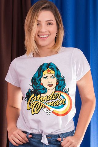 Camiseta Feminina Nózinho Mulher Maravilha Photo