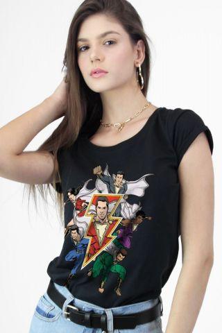 Camiseta Feminina Shazam Família