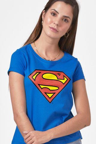 Camiseta Feminina Superman Logo Oficial