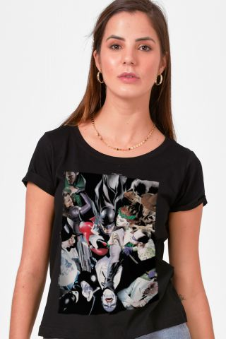 Camiseta Feminina Vilões de Gotham Alex Ross
