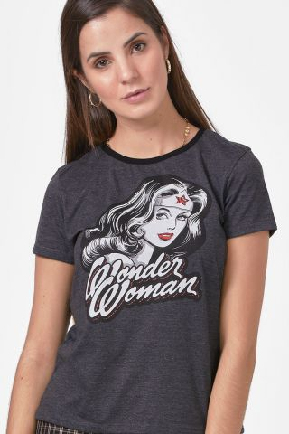 Camiseta Feminina Mulher Maravilha Fashion