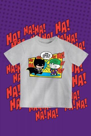 Camiseta Infantil Batman e Coringa