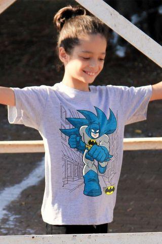 Camiseta Infantil Batman Em Ação