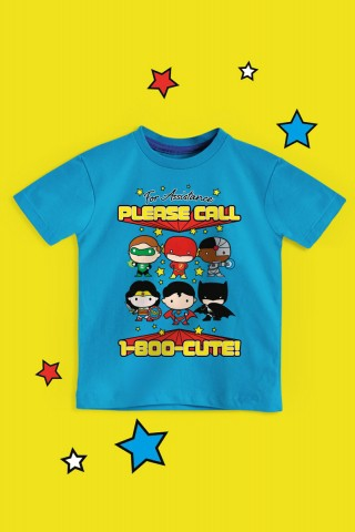 Camiseta Infantil Liga da Justiça Please Call
