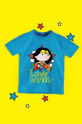 Camiseta Infantil Mulher Maravilha Star