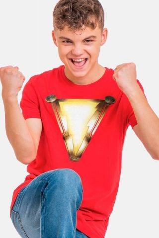 Camiseta Infantil Shazam Logo Movie