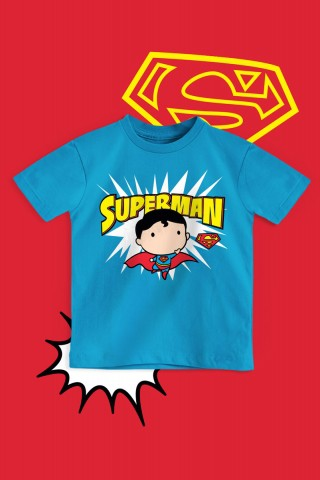 Camiseta Infantil Superman Chibi