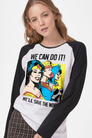 Camiseta Manga Longa Feminina We Can do It!