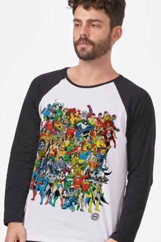 Camiseta Manga Longa Masculina DC Comics Originals