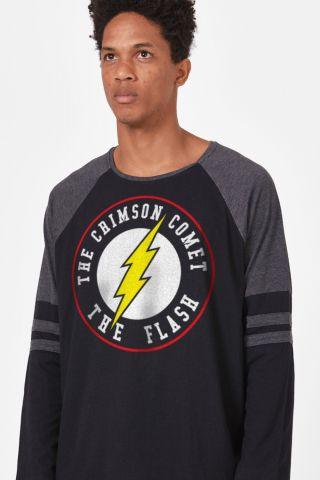 Camiseta Manga Longa Masculina The Flash Crimson Comet