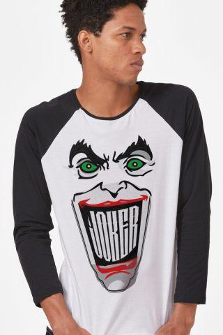 Camiseta Manga Longa Masculina Coringa Sorriso