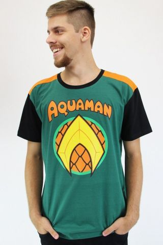 Camiseta Masculina Aquaman Logo