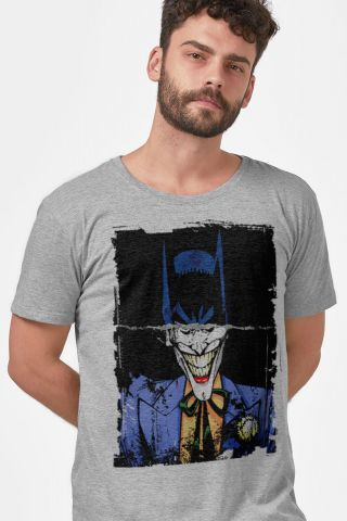 Camiseta Masculina Batman e Coringa Faces