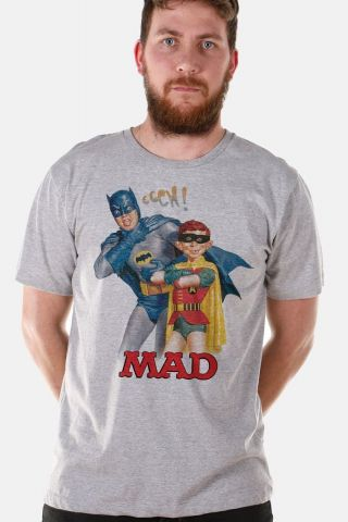 Camiseta Masculina Batman e MAD 2