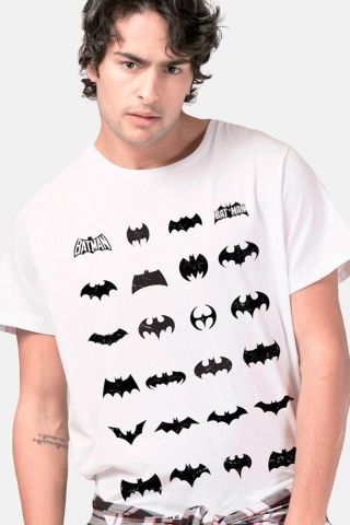 Camiseta Masculina Batman Logos Collection White